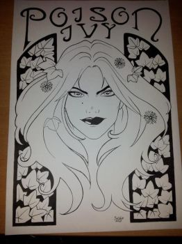 Poison Ivy Inked by ArtificialApplepie