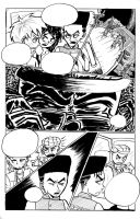 Double Blackness volume 5 page 2 preview inks by nigz