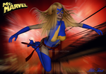 Ms Marvel in flight by mtrout65