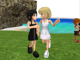Young Namine and Xion by xionsmiles