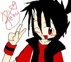 Ruby coloured tablet by Aikochibi
