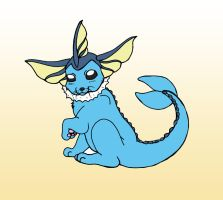 Cute Vaporeon UPDATE by CaveLupa