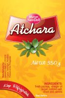 atchara label design by hashwednesday