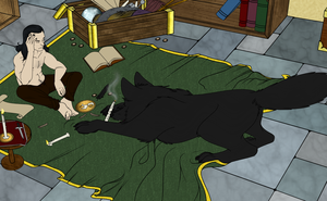 WIP - Loki and Fenrir Flats by LokiOfSassgaard