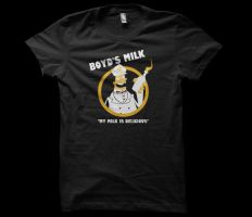 Boyd's Milk T-shirt Design by alsnow