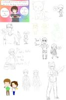 Sketches de Facebook [Agosto 2014] by irenereru