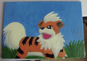 Growlithe Painting by kittybark