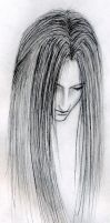 Sephiroth: disembodied head by ChaoticInsanity13