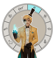 Bill Cipher   Animated GIF [with Speedpaint!] by sasoes