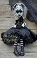 Gothic Art Doll Svetlana by VeronikaLozovaya