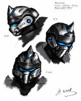 Helm concept for MANTA unit by vitrashark