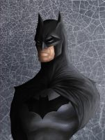 Batman Bust by Crown-Wolf