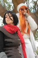 Bleach Winter- Rukia and Orihime by the SC Cosplay by theSCcosplay
