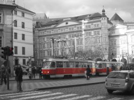 Prague tram by DrTrenchcoat