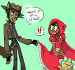 mani+dave / red riding hood by psuliem