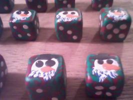 Christmas Gaming Dice by LeraDraco69