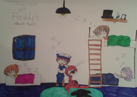 Sleepover at Freddy's by Starkirby4354