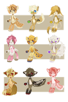 | Adoptables 04 : OPEN | by iEatMudkipz