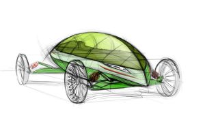 concept car design sketch by Nico4blood