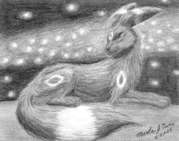 Umbreon sketch by Eclipsis
