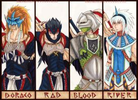 "MH:""the Late Devils"" members by MasamuneRevolution"