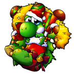 A Yoshi Christmas Stocking by Foxeaf