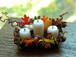Fall Candle Basket by Minifanaticus