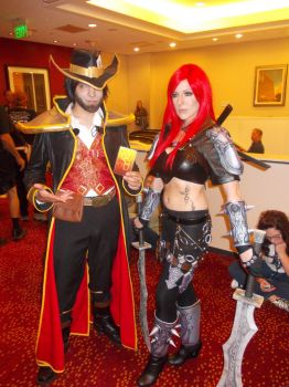 Twisted Fate and Katarina by rjccj