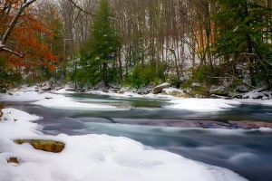 Middle Fork River: Winter by LAlight