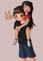 Drew my friend and her brother xD by Hamzilla15