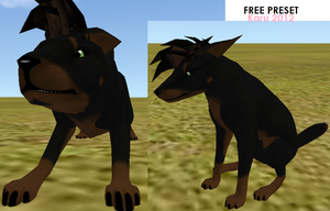 Free Doberman Preset (Feral Heart) by akemishioya