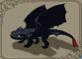 Toothless NightFury by JonnDrakea