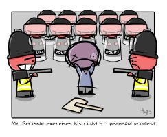 Mr. Scribble 1.1: Protest by x-vegan-x