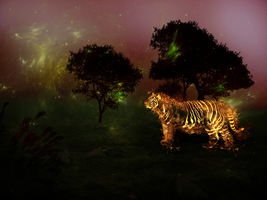 Hot tiger in mystic setting by Chakaluki