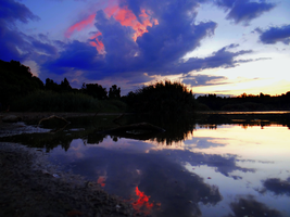 Sunset by the pond -7- by IoannisCleary