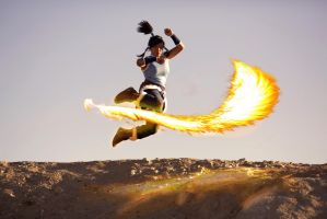 Korra Cosplay - Learned from the Dragons by eloquium