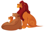 Mufasa, Sarabi and Simba - vector by DigitalIguana