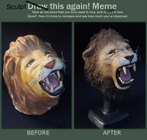:.Before and after meme.: by XPantherArtX