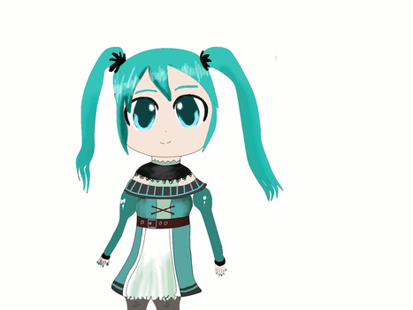 [GIF] Hatsune Miku by Minnie-Rose
