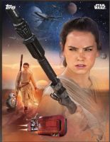 Star Wars: The Force Awakens Rey promo poster by Artlover67