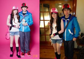 Hilda and Hilbert Pokemon Cosplay by DJBrowny