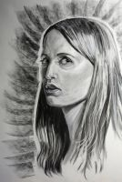 Self Portrait in Charcoal and Conte' Crayon by tree27