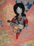 Needle Felted Marceline, her Banjolele and Hambo by CatsFeltLings