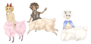 Ice cream sheep adopts [Freebies!] by Petite-Colette