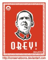 Obey Obama by Conservatoons