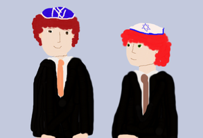 Jacob  and Kyle The Bar Mitzvah boys by freacls