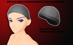 MMD basic knitted cap+DL by Green-Fighter