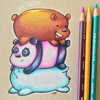 We Bare Bears by sketchwithtiff