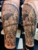 Ozark wildlife themed calf piece by catbones