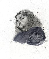 "LOST sketch ""Hurley"" by J-Scott-Campbell"